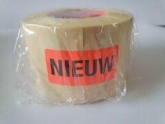 """Merkloos / Sans marque Sticker met """"Nieuw"""" erop - Formaat: 49 x 23 mm - Materiaal: rood radiant"""