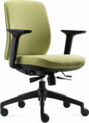 BenS 917-Ergo-1-Groen. Ergonomische bureaustoel, veel instel mogelijkheden.