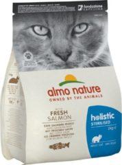 Almo Nature Cat Holistic Sterilised 2 kg - Kattenvoer - Zalm&Rijst Sterilised