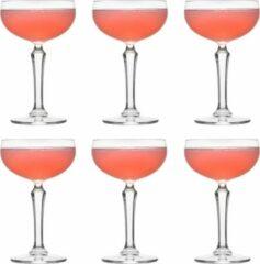 Transparante Libbey Cocktailglas SPKSY Coupe - 245 ml / 24,5 cl - 6 Stuks - Champagneglas - Vaatwasserbestendig - Hoge kwaliteit - Vintage design - Perfect voor een cocktailfeest aan huis