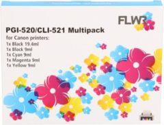 Cyane FLWR - Inktcartridge / CLI-521 / 5-pack Zwart&Kleur- Geschikt voor Canon