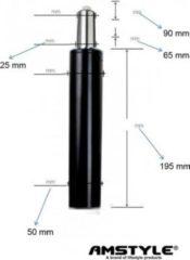 AMSTYLE Gasdruckfeder Bürostuhl GASDRUCKDÄMPFER GASFEDER 195mm / 50mm Schwarz