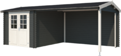 Outdoor Life Products | Buitenverblijf Ivana 275 Plus | Carbon Grey | 595x295