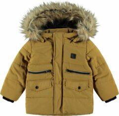 NAME IT MINI baby gewatteerde winterjas Matthew bruin