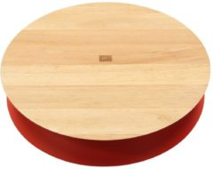 Present Time (Pt,) Present Time Kitchen Taartplateau van Hout – Taartbord op Voet 25cm – Designed by Jette Scheib – Oranje