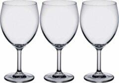 Bormioli 6x Stuks wijnglazen transparant 410 ml - Wijnglas voor rode wijn op voet