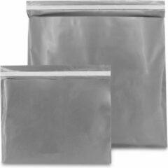 ArtiPack Verpakkingen Plastic verzendzakken - Zilver - 400 x 300 mm (M) - 100 micron - (kleding - webshop) - 20 stuks