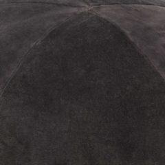 Grijze VidaXL Poef 50x35 cm katoenfluweel antraciet