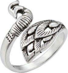 Charme Bijoux Verstelbare- ring- Pauw-Zilver- Dames