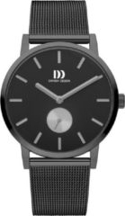 Grijze Danish Design watches edelstalen herenhorloge Tokyo Grey Black Grey Large Mesh IQ64Q1219