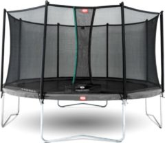 Grijze Trampoline BERG Favorit Regular 430 Grey + Safety Net Comfort