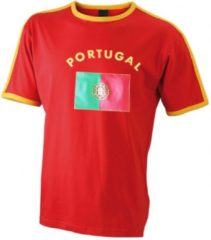 Rode James & Nicholson Rood heren shirt Portugal M