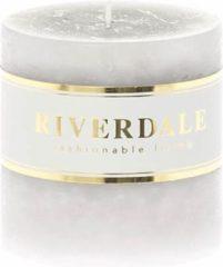 Riverdale NL Kaars Pillar grijs 7x7cm