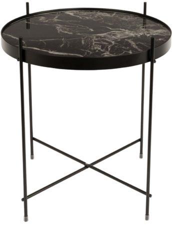 Afbeelding van Zwarte Zuiver - Side Table Cupid Marble Black - Bijzettafel - Zwart