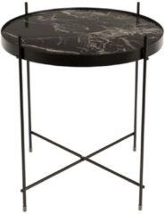 Zwarte Zuiver - Side Table Cupid Marble Black - Bijzettafel - Zwart
