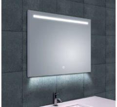 Saqu Spiegel met LED verlichting Dimbaar 80x60 cm