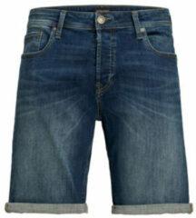 Blauwe jack jones jeans intelligence fit jeans short rick blue denim
