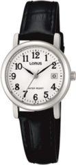 Lorus RH765AX9 Horloge staal/leder zwart-zilverkleuroig