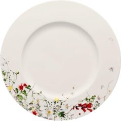 Witte ROSENTHAL - Brillance Fleurs Sauvages - Bord 28cm met Rand