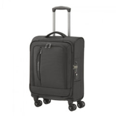 Zwarte Travelite CrossLite 4 Wheel Trolley S Black