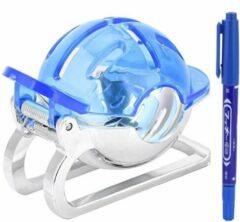 Blauwe Firsttee - LUXE Balmarker - INCLUSIEF stift - Figuren - Snel droog - Golfbal marker - Stempel - Markeringsset - Line marker - Golf accessoires - Golftrainingsmateriaal - Training - Sport - Cadeau - Golfballen - Golfset - Trainingsmaterialen - Swing