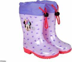 Perletti Regenlaarzen Minnie Mouse Junior Rubber Paars Maat 28/29