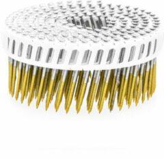 Everwin Plastic Gebonden Coilnagels TC15   2.5 x 50 mm   Ring RVS bolkop   1050 stuks