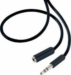SpeaKa Professional Jackplug Audio Verlengkabel [1x Jackplug male 3.5 mm - 1x Jackplug female 3.5 mm] 3.00 m Zwart SuperSoft-mantel