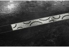 Roestvrijstalen Schluter Kerdi-Line-Style Curve Rooster met Frame voor Douchegoot 90 cm RVS