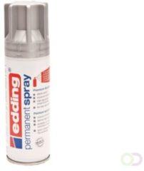 Edding 5200 permanent spray premium acrylverf zilver mat voor hout, glas, metaal,keramiek,kunststof, canvas super dekkend