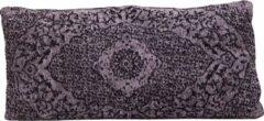 Myroundie - sierkussen - kussen - 35 x 70 cm - jacquard - grijs