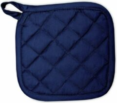 Marineblauwe I2T - Kitchen Collection I2T Pannenlappen 21x21 cm - Set van 8 - Navy blauw - 185 gr/m²