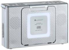 Grijze Soundmaster BCD480 Spatwaterdichte badkamer/keukenradio radio met CD en klok