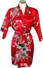 TA-HWA Korte Kimono Pauw Rood