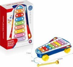 FDBW Speelgoed Xylofoon Blauw met Geluid – Baby | Xylofoon Piano - Speelgoed Kind | Speelgoed Piano met Geluid | Xylofoon - Baby – 30 x 22 x 10 cm