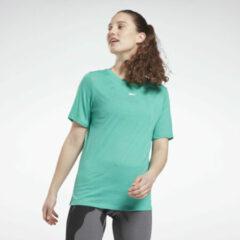 Blauwgroene Reebok Burnout T-shirt