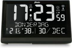 Witte Alecto AK-70 Grote digitale klok met thermometer en hygrometer | Groot display | Wekker met snooze | Zwart