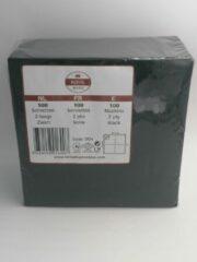 Royal ware by Farla Voordeelpak: Doos met 10x100 zwarte servetten 32.5x 32.5 cm 2 laags
