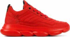 Rode Red-Rag 13333 424 Red Nubuck Sneakers lage-sneakers