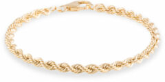 Gold Collection Geelgouden Schakelarmband 'Koord' Hol - 3.8 mm x 19 cm 204.2015.19