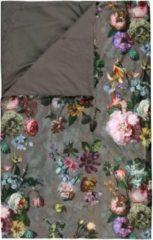 Grijze ESSENZA Fleur - Sprei - Taupe - 220x265 cm