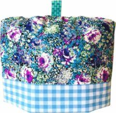 Lichtblauwe Cherry on the pie Theemuts Catoo bloem lila/blue