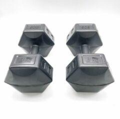 ECG Spor 2x Dumbells - 8 kg - Dumbells Set - Zwart - Gewichten - Gewichten Set - Gewichten 8 Kg - Gewichten Fitness - Dumbells 8 Kg