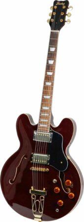 Afbeelding van Fazley FES318DR Dakota Red semi-akoestische gitaar