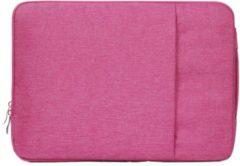 Mac-cover.nl 11.6 / 12 inch sleeve met extra vak - roze