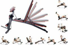 Rode FitGoodz Fitnessbank - Fitnessbank verstelbaar - Halterbank - Buikspierbank - Beentrainer - Fitness - 153 x 53 x 102 cm