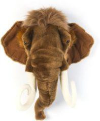 Bruine Wild & Soft Dierenkop Mammoet - Arthur - muurornament - Wild & Soft