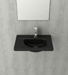 Bocchi Taormina wastafel 45x31cm mat zwart