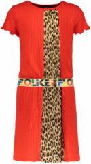 Like Flo jurk met panterprint rood/bruin