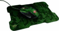 Trust GXT 781 Rixa Gaming Set - Muis & Muismat - Camouflage Desktop accessoire Zwart